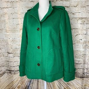 Banana Republic green swing style coat jacket med.